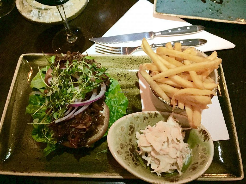 """Photo of CLOSED: The Factory  by <a href=""""/members/profile/DoktorAce"""">DoktorAce</a> <br/>Fooled pork on jack fruit, with fries and coleslaw <br/> April 4, 2015  - <a href='/contact/abuse/image/57122/97769'>Report</a>"""