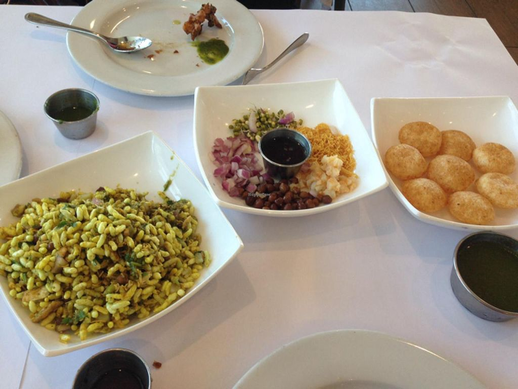 """Photo of Chaat Bhavan  by <a href=""""/members/profile/Kyliens"""">Kyliens</a> <br/>Bhel Poori and Pani Poori <br/> April 5, 2015  - <a href='/contact/abuse/image/57127/97902'>Report</a>"""