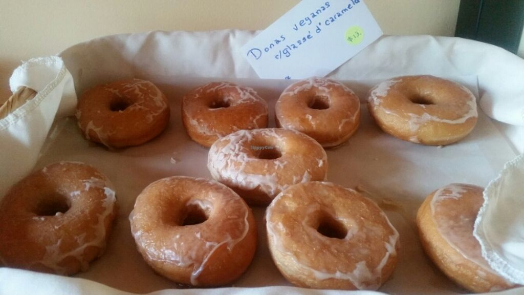 """Photo of Mana  by <a href=""""/members/profile/kenvegan"""">kenvegan</a> <br/>vegan glazed doughnuts <br/> December 4, 2015  - <a href='/contact/abuse/image/57142/127168'>Report</a>"""