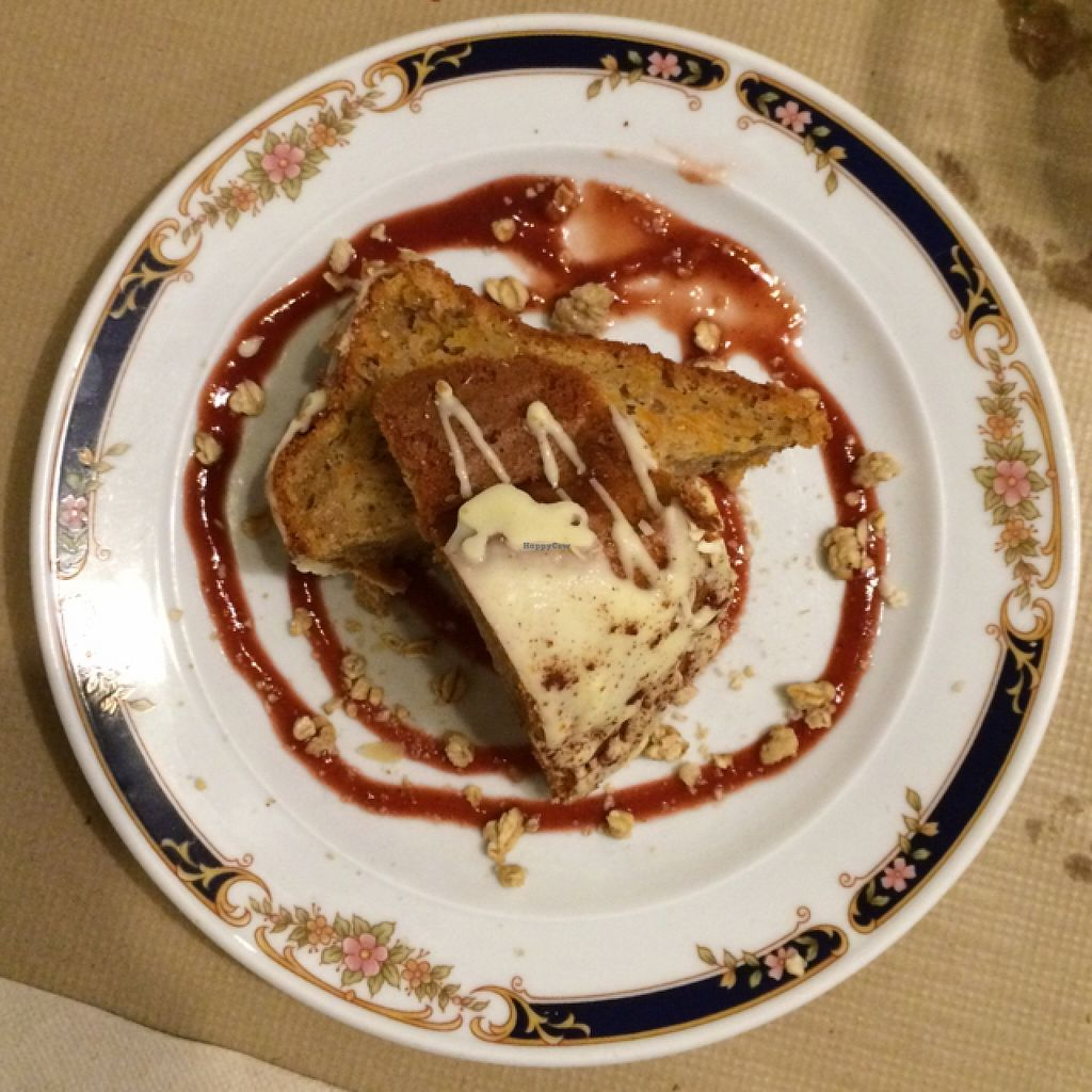 Photo of Integral Figueres  by EvaMpatshi <br/>sweet potato cake, one of five choises of dessert today <br/> September 24, 2015  - <a href='/contact/abuse/image/57143/118961'>Report</a>