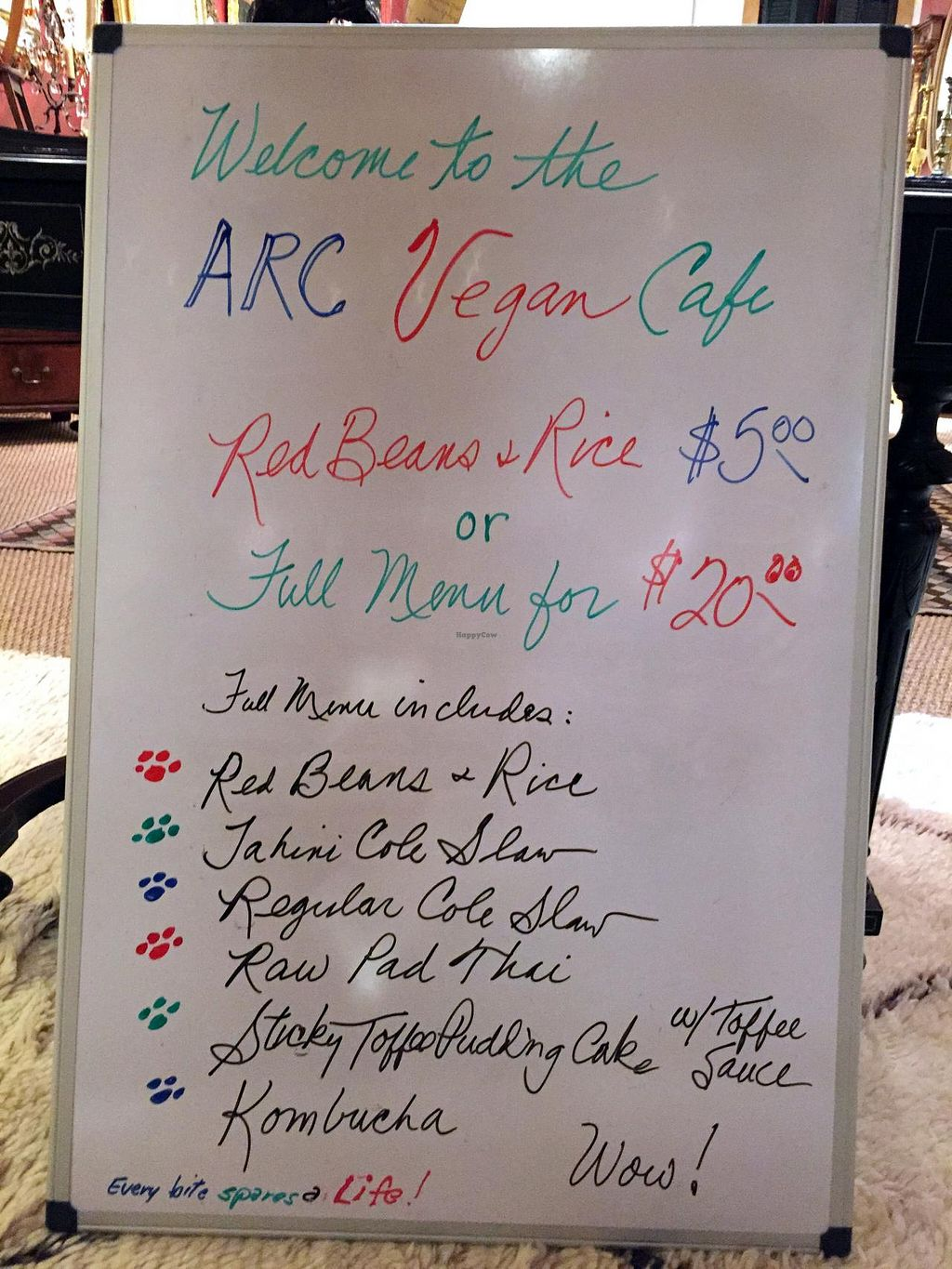 """Photo of ARC  by <a href=""""/members/profile/TraceyNarayaniGlover"""">TraceyNarayaniGlover</a> <br/>ARC cafe menu from Feb, 2015 (menu changes monthly) <br/> April 4, 2015  - <a href='/contact/abuse/image/57146/97805'>Report</a>"""