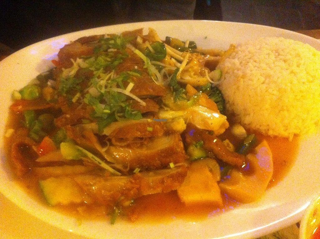 "Photo of Chay Viet  by <a href=""/members/profile/Sternanis"">Sternanis</a> <br/>Vegetables and rice with vegan duck. Very good <br/> January 10, 2017  - <a href='/contact/abuse/image/57164/210502'>Report</a>"