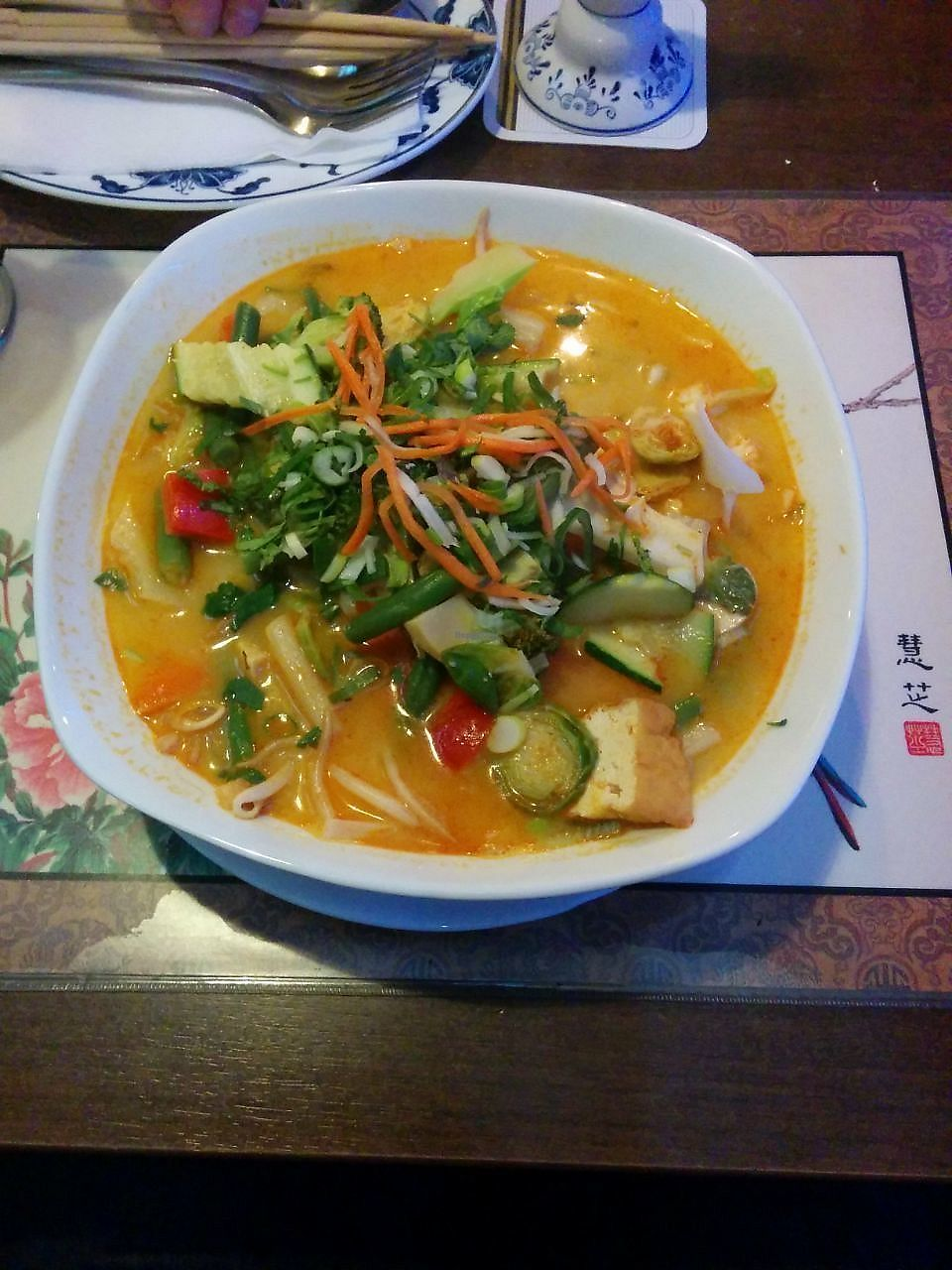 "Photo of Chay Viet  by <a href=""/members/profile/FlokiTheCat"">FlokiTheCat</a> <br/>Vegan pho with coconut milk <br/> December 31, 2017  - <a href='/contact/abuse/image/57164/341280'>Report</a>"