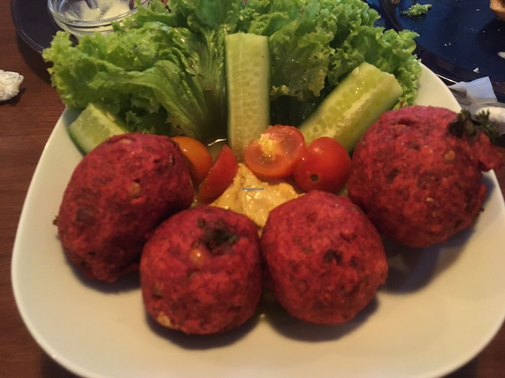 "Photo of GYVAS baras  by <a href=""/members/profile/SuzyJones"">SuzyJones</a> <br/>beetroot falafel  <br/> August 14, 2017  - <a href='/contact/abuse/image/57175/292631'>Report</a>"