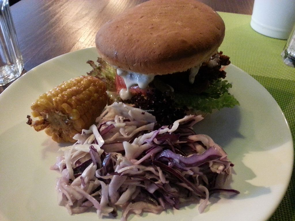 "Photo of GYVAS baras  by <a href=""/members/profile/MiLed"">MiLed</a> <br/>vegan Burger with kraut and corn <br/> October 7, 2017  - <a href='/contact/abuse/image/57175/312638'>Report</a>"
