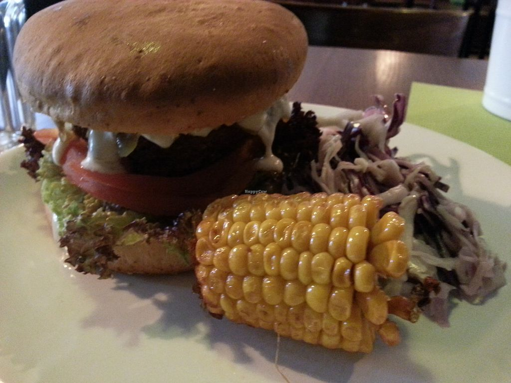 "Photo of GYVAS baras  by <a href=""/members/profile/MiLed"">MiLed</a> <br/>vegan Burger with kraut and corn <br/> October 7, 2017  - <a href='/contact/abuse/image/57175/312640'>Report</a>"