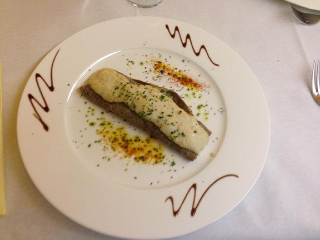 """Photo of CLOSED: Ristorante Castelfidardo  by <a href=""""/members/profile/YvesDupre"""">YvesDupre</a> <br/>Crêpe filled with grilled vegetables and bechamel sauce <br/> April 6, 2015  - <a href='/contact/abuse/image/57204/98104'>Report</a>"""