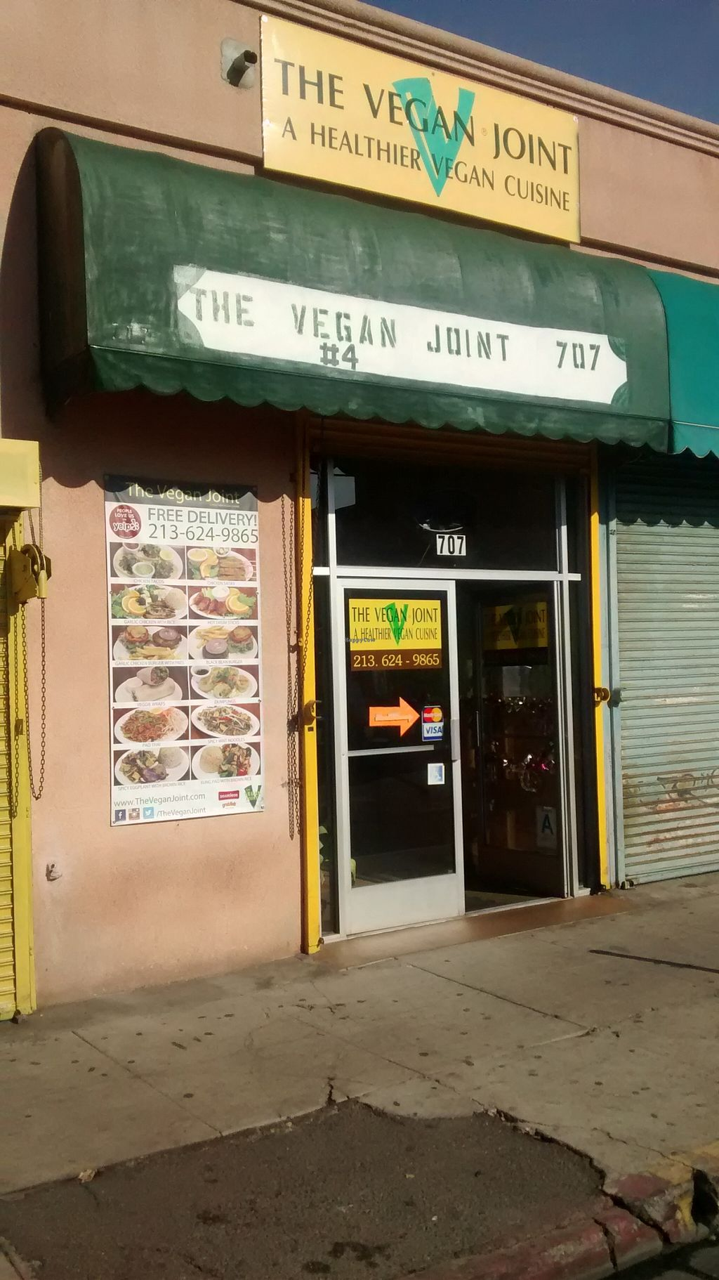 """Photo of The Vegan Joint - DTLA  by <a href=""""/members/profile/MarkTagawa"""">MarkTagawa</a> <br/>Street view on 10th <br/> December 23, 2015  - <a href='/contact/abuse/image/57238/129614'>Report</a>"""