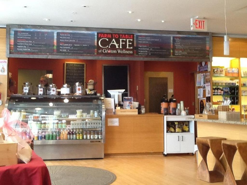 """Photo of Cafe at Groton Wellness  by <a href=""""/members/profile/ChristineH"""">ChristineH</a> <br/>Cafe at Groton Wellness - The Clean Food Café  View Menu: http://www.grotonwellness.com/farm-table-caf%C3%A9 <br/> April 8, 2015  - <a href='/contact/abuse/image/57246/98280'>Report</a>"""