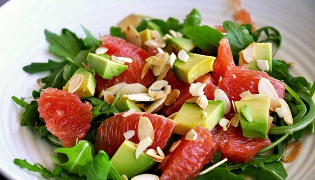 """Photo of Cafe at Groton Wellness  by <a href=""""/members/profile/ChristineH"""">ChristineH</a> <br/>Avocado & Grapefruit Salad  View Menu: http://www.grotonwellness.com/farm-table-caf%C3%A9 <br/> April 8, 2015  - <a href='/contact/abuse/image/57246/98285'>Report</a>"""