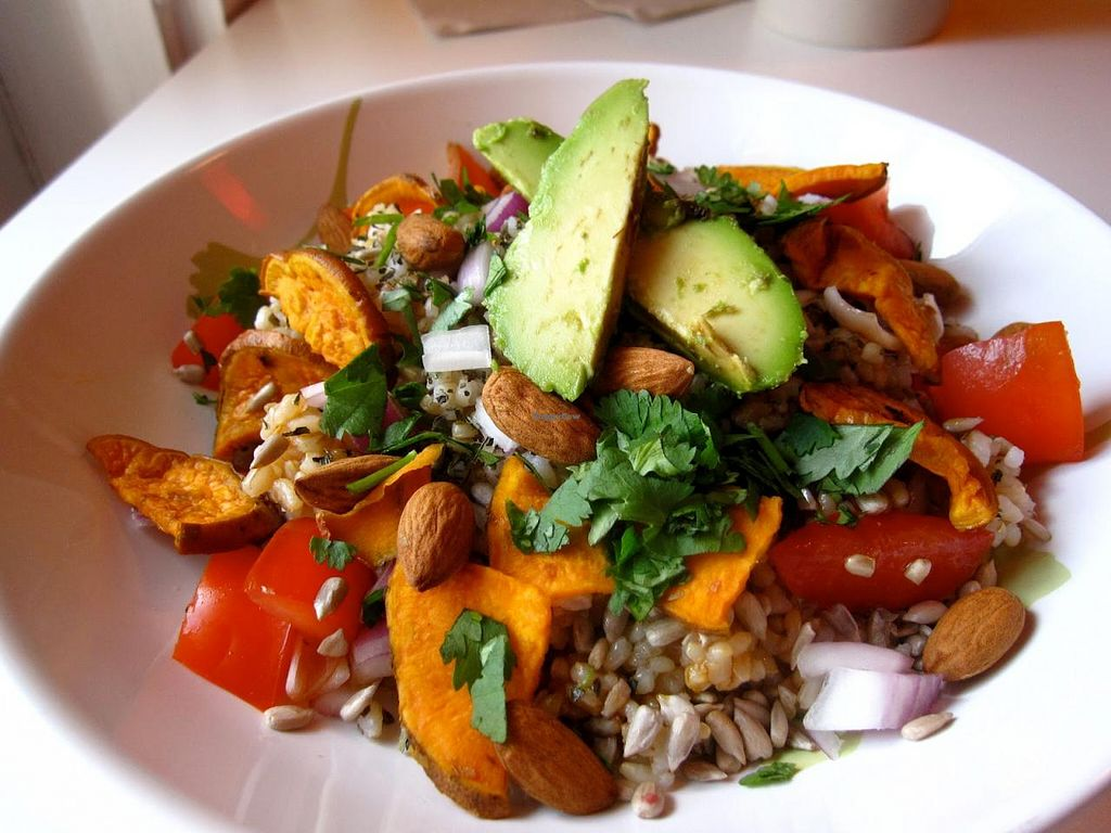 """Photo of Cafe at Groton Wellness  by <a href=""""/members/profile/ChristineH"""">ChristineH</a> <br/>Nutrient-Rich Meal  View Menu: http://www.grotonwellness.com/farm-table-caf%C3%A9 <br/> April 8, 2015  - <a href='/contact/abuse/image/57246/98292'>Report</a>"""