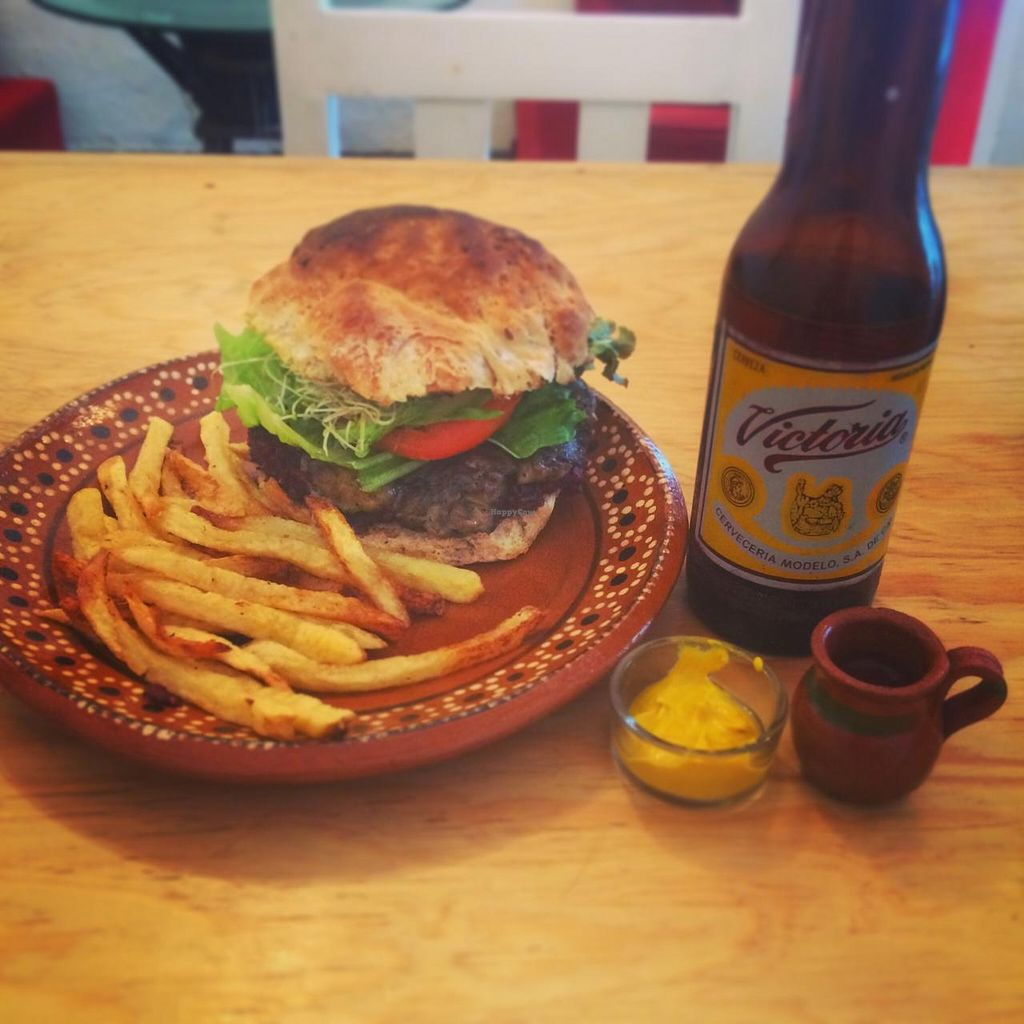 "Photo of CLOSED: Kalpoli Margarita  by <a href=""/members/profile/KyleKinton"">KyleKinton</a> <br/>One of the best burgers I've ever had, my mind has been opened to the fact I don't always need to eat meat! Plus the fries were like British Chips and the best I've had in North and Central America! <br/> April 17, 2015  - <a href='/contact/abuse/image/57249/99357'>Report</a>"