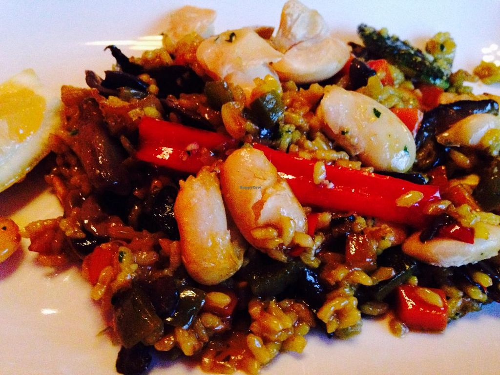 "Photo of La Taberna del Alabardero  by <a href=""/members/profile/cookiem"">cookiem</a> <br/>Mushroom, fava bean and seasonal vegetable paella <br/> April 8, 2015  - <a href='/contact/abuse/image/57274/98363'>Report</a>"