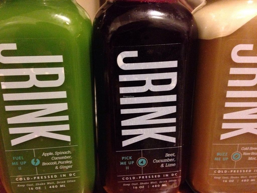 """Photo of Jrink Juicery - 14th St  by <a href=""""/members/profile/cookiem"""">cookiem</a> <br/>A trio of treasured jrinks  <br/> April 28, 2015  - <a href='/contact/abuse/image/57278/100571'>Report</a>"""