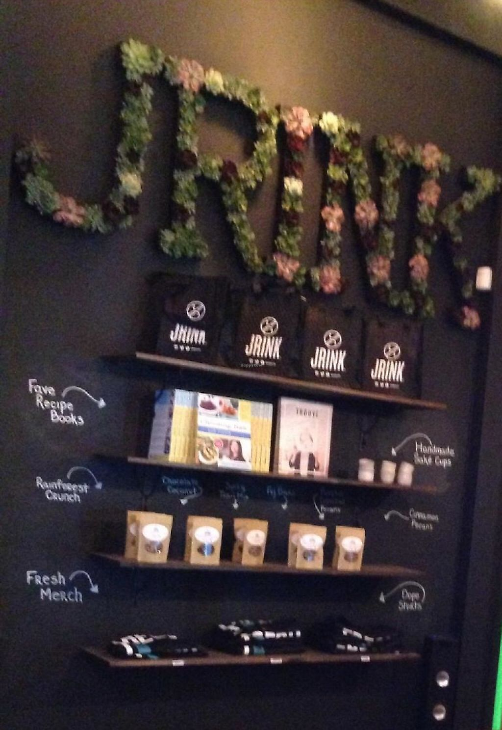 """Photo of Jrink Juicery - 14th St  by <a href=""""/members/profile/cookiem"""">cookiem</a> <br/>Simple decor <br/> April 28, 2015  - <a href='/contact/abuse/image/57278/191527'>Report</a>"""