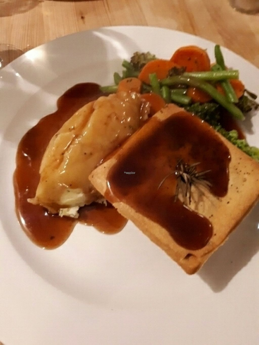 """Photo of Roebuck Inn  by <a href=""""/members/profile/amypattison"""">amypattison</a> <br/>Roast parsnip pie  <br/> March 25, 2017  - <a href='/contact/abuse/image/57290/240685'>Report</a>"""