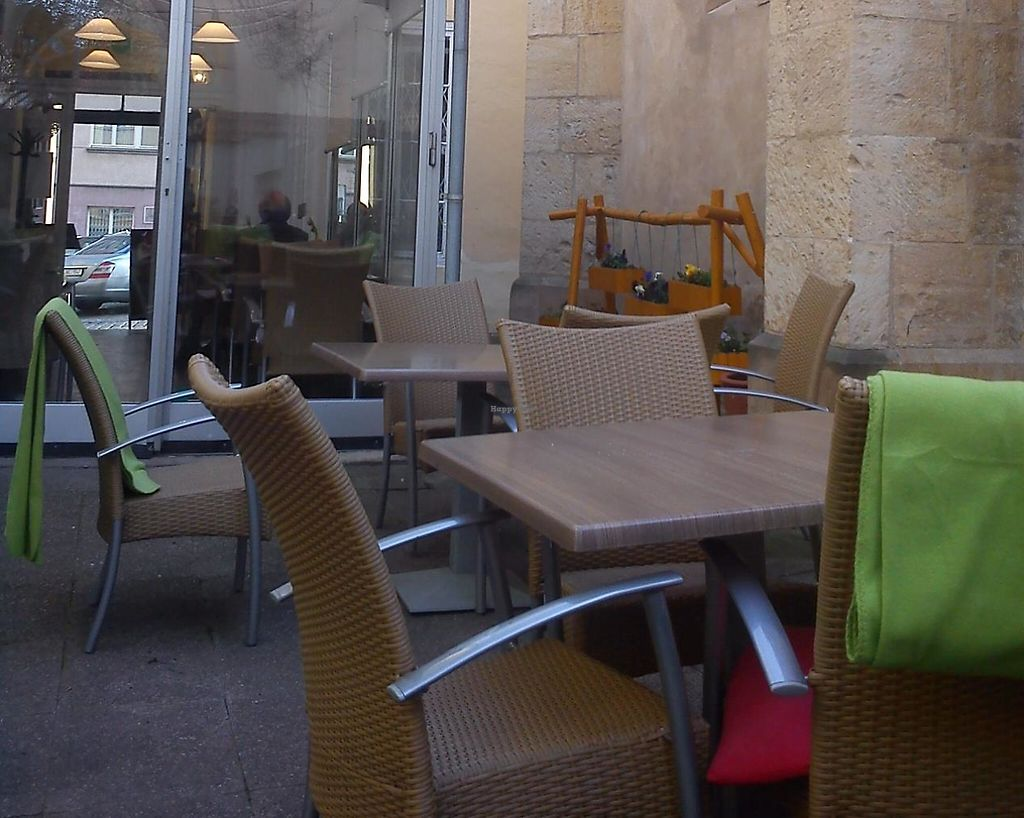 """Photo of CLOSED: Green Spirit  by <a href=""""/members/profile/Tereza-soucitne.cz"""">Tereza-soucitne.cz</a> <br/>Outdoor seating by the gothic church! <br/> April 9, 2015  - <a href='/contact/abuse/image/57301/237338'>Report</a>"""