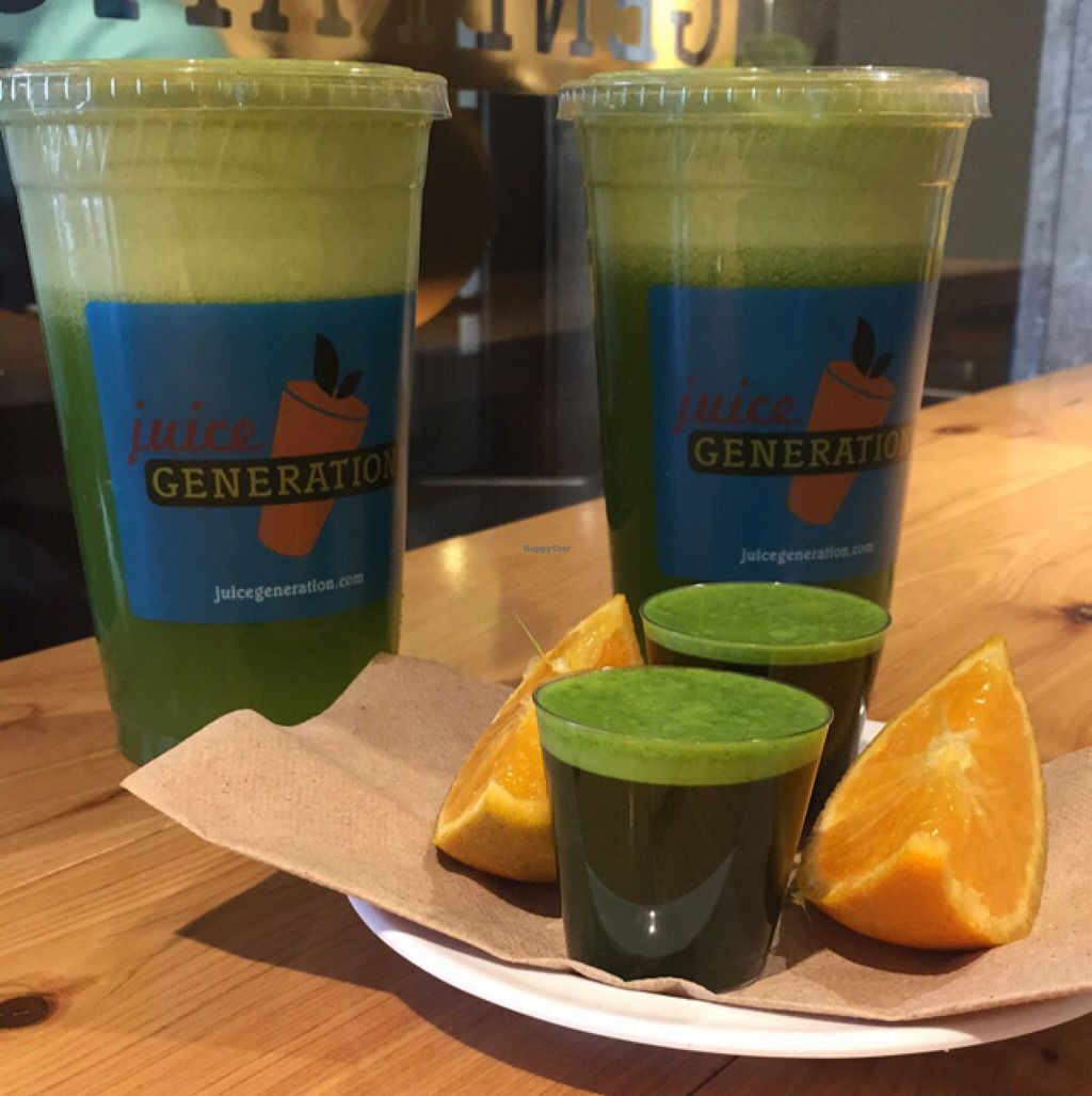 "Photo of Juice Generation - Grand Central  by <a href=""/members/profile/Boriloca"">Boriloca</a> <br/>yum! Get Your Green On & Wheatgrass Shots <br/> October 24, 2015  - <a href='/contact/abuse/image/57308/122507'>Report</a>"