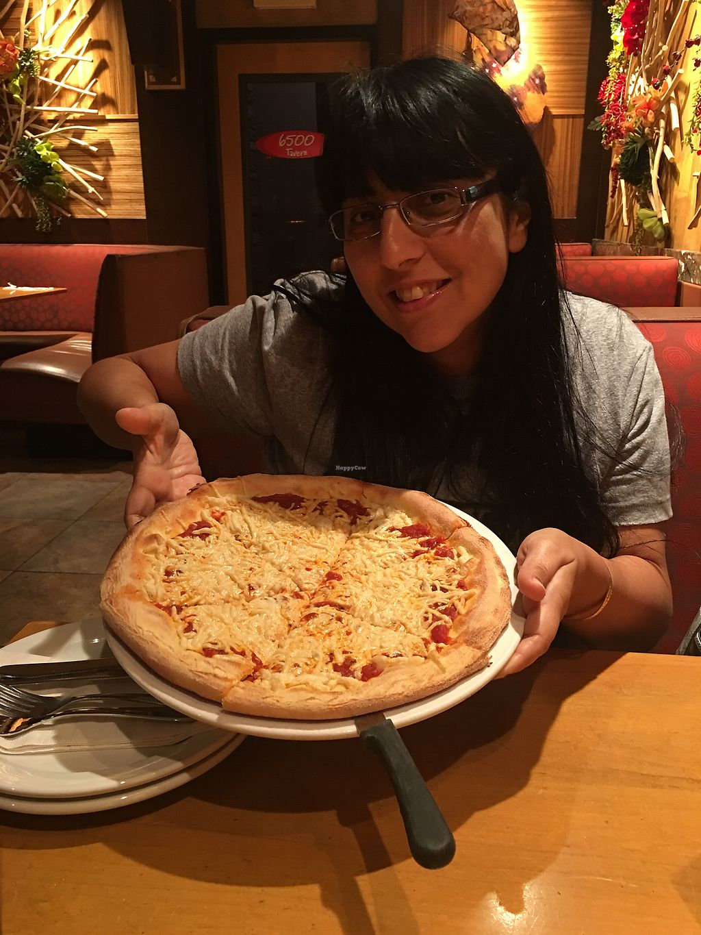 """Photo of Sammy's Woodfire Pizza  by <a href=""""/members/profile/Lailanotte"""">Lailanotte</a> <br/>Vegan cheese pizza <br/> September 22, 2017  - <a href='/contact/abuse/image/57316/307007'>Report</a>"""