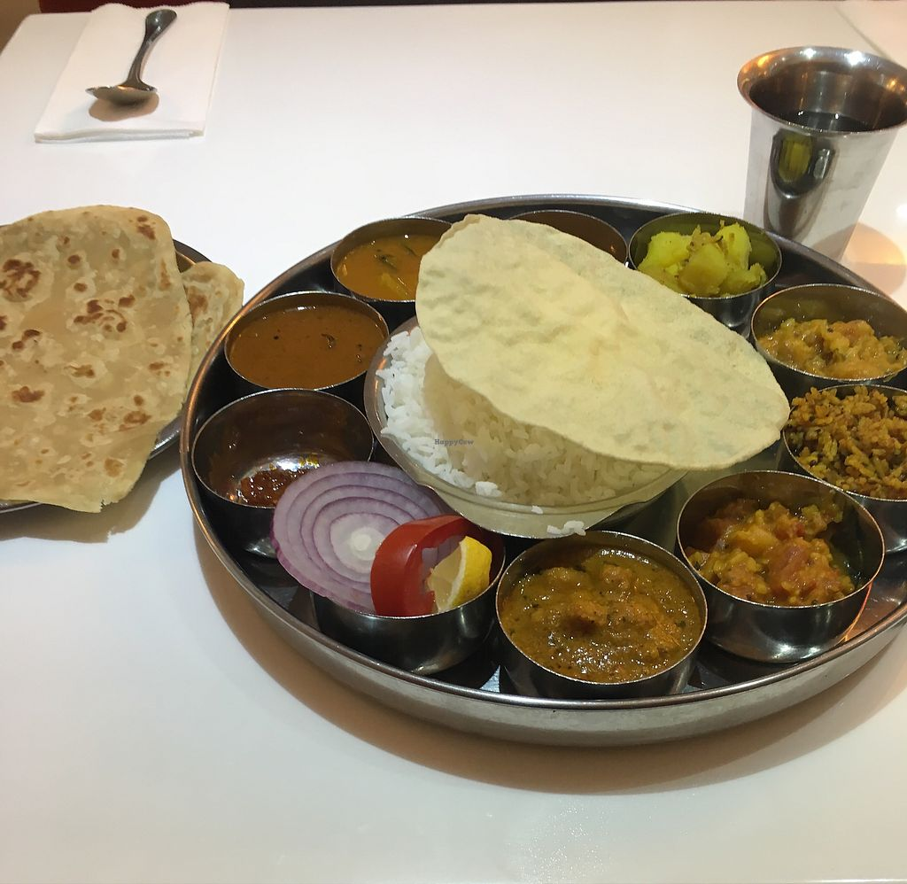 """Photo of Saravana Bhavan  by <a href=""""/members/profile/HungryEaters"""">HungryEaters</a> <br/>Thali for ~100 HK$ (all you can eat) was soooo good! <br/> September 22, 2017  - <a href='/contact/abuse/image/57320/307054'>Report</a>"""