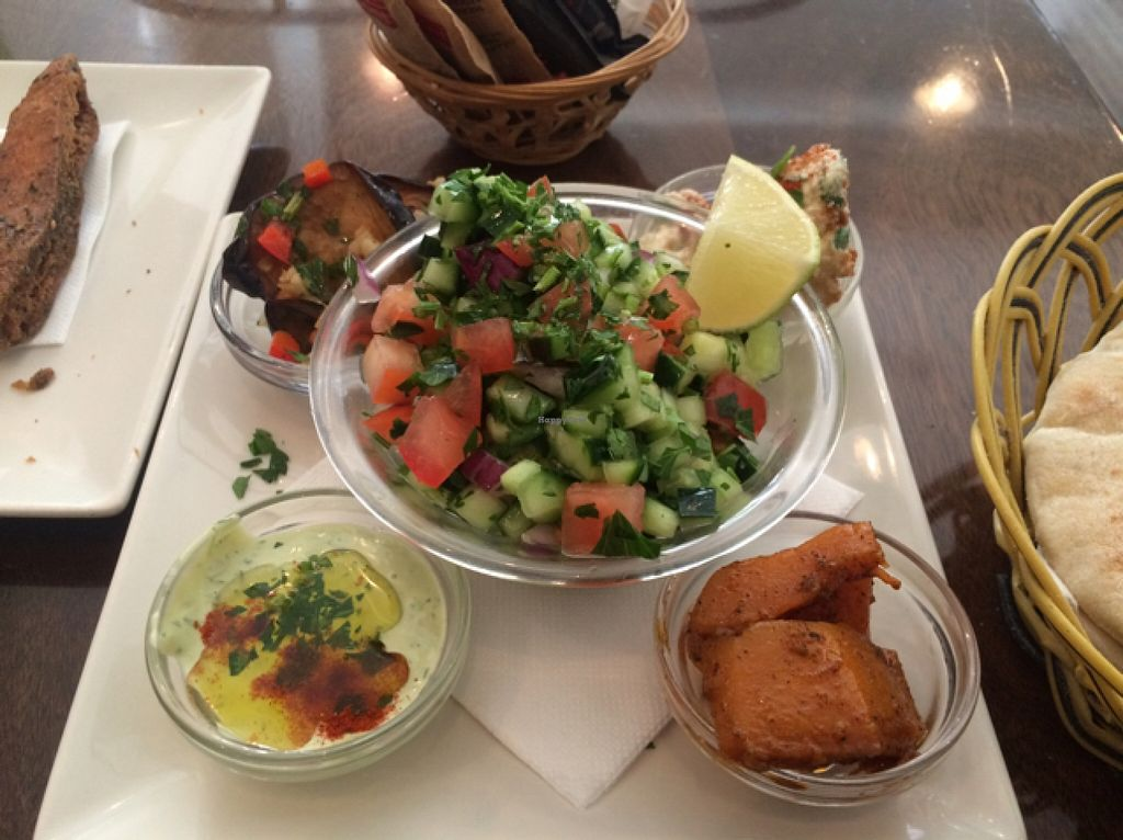 """Photo of Hummus Barcelona  by <a href=""""/members/profile/Issispoblete"""">Issispoblete</a> <br/>salad of the menu  <br/> February 1, 2016  - <a href='/contact/abuse/image/57327/134586'>Report</a>"""