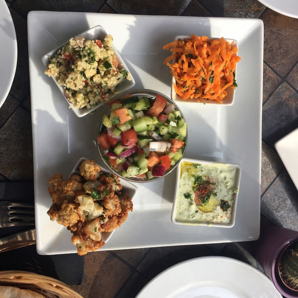 """Photo of Hummus Barcelona  by <a href=""""/members/profile/manic-organic"""">manic-organic</a> <br/>Mediterranean salad <br/> December 10, 2016  - <a href='/contact/abuse/image/57327/199166'>Report</a>"""