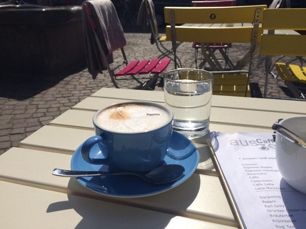 "Photo of Auszeit  by <a href=""/members/profile/Plantpower"">Plantpower</a> <br/>Great coffee and tastes even better in the warm sun  <br/> April 10, 2015  - <a href='/contact/abuse/image/57334/98536'>Report</a>"