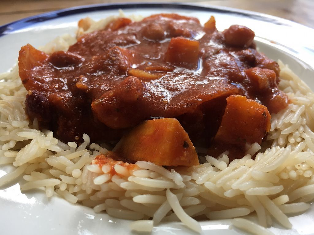 "Photo of The Cornerhouse Cafe  by <a href=""/members/profile/hack_man"">hack_man</a> <br/>sweet potato and mixed bean chilli  <br/> August 15, 2017  - <a href='/contact/abuse/image/57336/292927'>Report</a>"