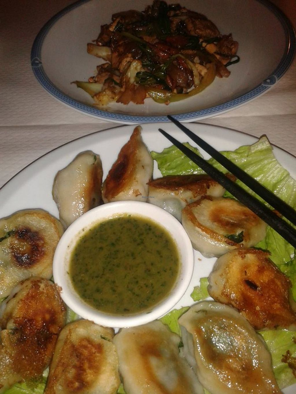 "Photo of Pema Thang  by <a href=""/members/profile/LiliBat"">LiliBat</a> <br/>Vegan meal and it's delicious sauce <br/> July 30, 2015  - <a href='/contact/abuse/image/57351/111576'>Report</a>"