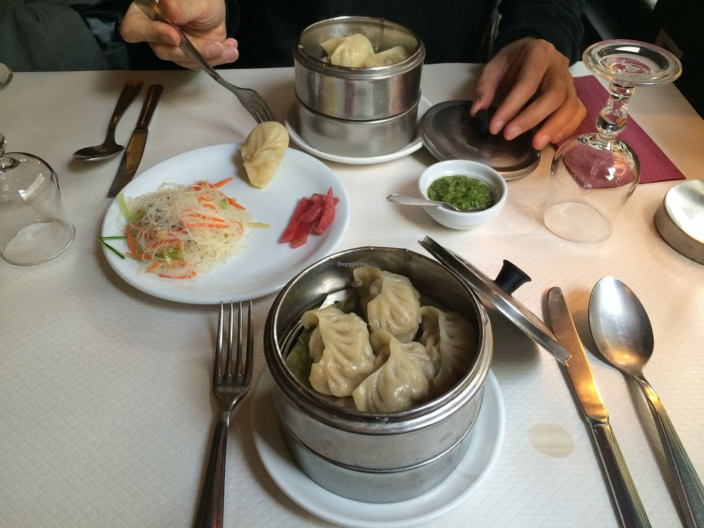 "Photo of Pema Thang  by <a href=""/members/profile/LisaCupcake"">LisaCupcake</a> <br/>cabbage momos and soy-protein momos with coriander sauce <br/> March 5, 2016  - <a href='/contact/abuse/image/57351/138859'>Report</a>"