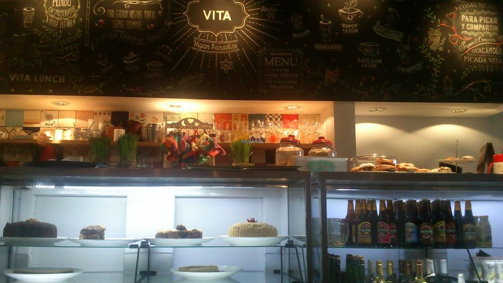 """Photo of VITA - Palermo  by <a href=""""/members/profile/citizenInsane"""">citizenInsane</a> <br/>cakes fridge and wall menu <br/> July 25, 2015  - <a href='/contact/abuse/image/57364/110917'>Report</a>"""