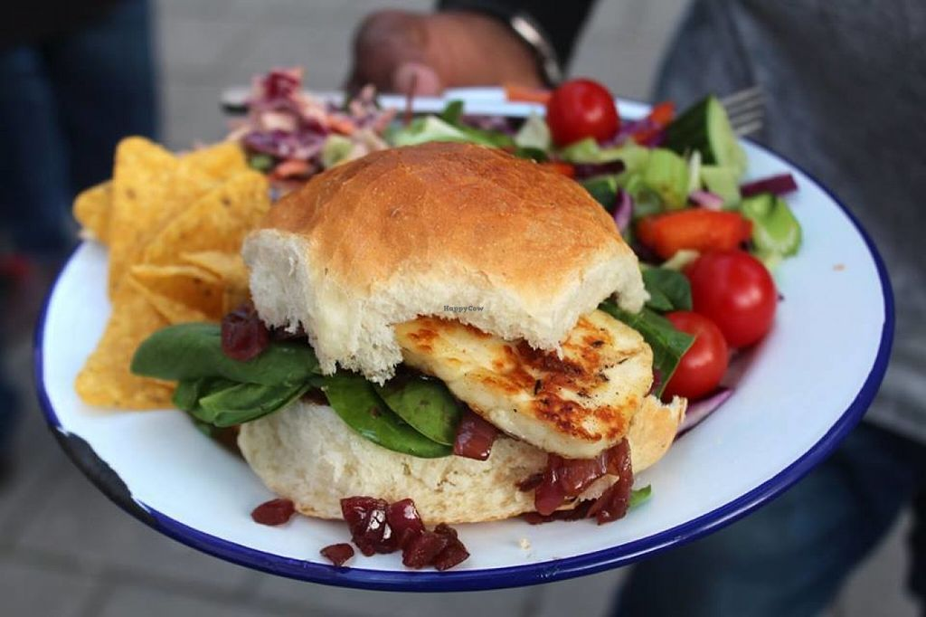 """Photo of Trew Era Cafe  by <a href=""""/members/profile/kezia"""">kezia</a> <br/>Lovely Vegan Tofu Burger - Which was a special at the last Trew Era Acoustic night <br/> July 30, 2016  - <a href='/contact/abuse/image/57393/163425'>Report</a>"""