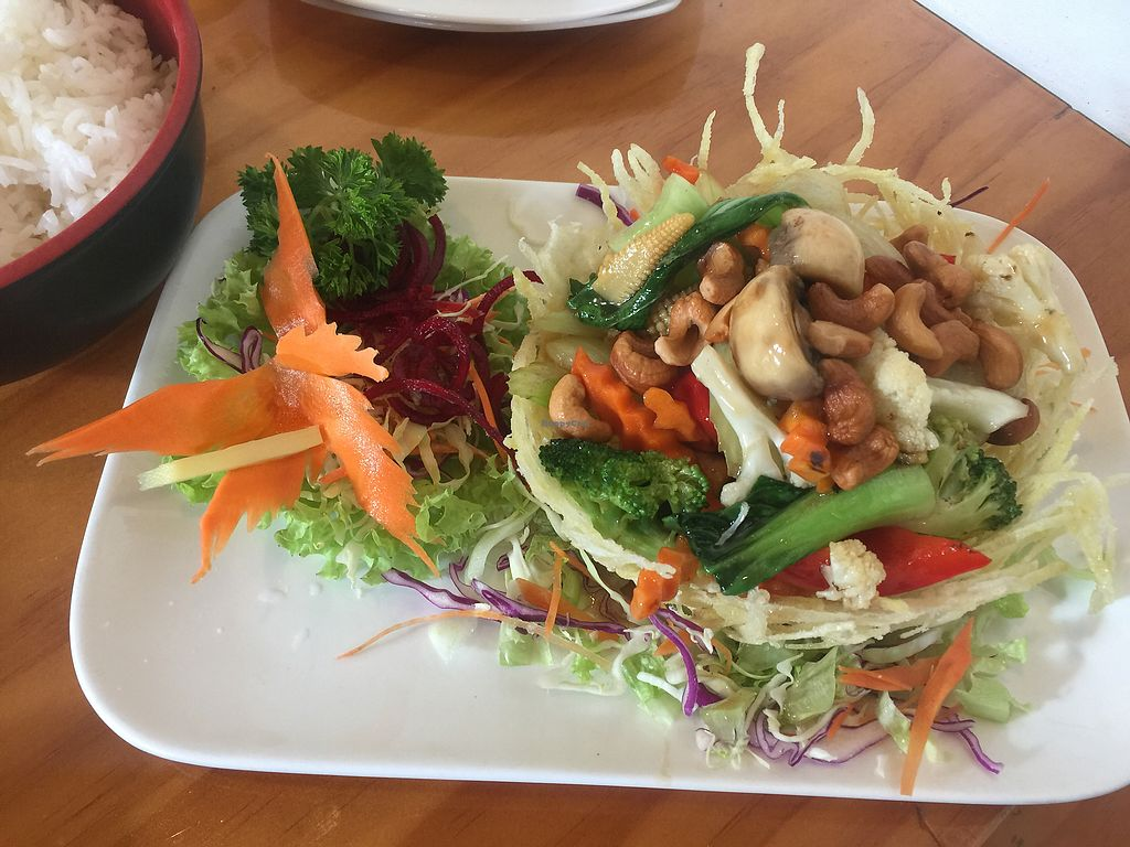 """Photo of Yeda  by <a href=""""/members/profile/Tiggy"""">Tiggy</a> <br/>Veganised chicken cashew nut $20.90 - Not bad but no discount for removal of (or replacement for) main ingredient <br/> January 4, 2018  - <a href='/contact/abuse/image/57404/343039'>Report</a>"""