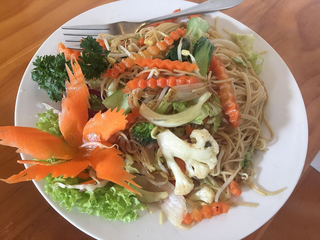 """Photo of Yeda  by <a href=""""/members/profile/Tiggy"""">Tiggy</a> <br/>Veganised Hokkien noodles $16.90 - Not bad but no discount for removal of (or replacement for) main ingredient  <br/> January 4, 2018  - <a href='/contact/abuse/image/57404/343040'>Report</a>"""