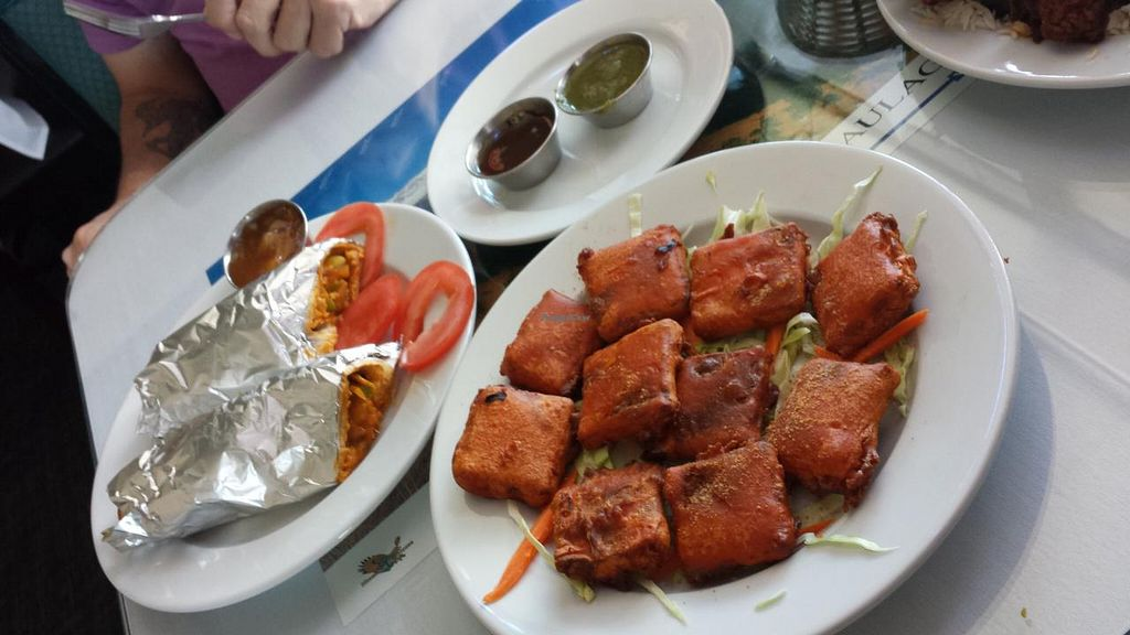 """Photo of Himalayan Cafe  by <a href=""""/members/profile/Veggie%20Army"""">Veggie Army</a> <br/>Vegetable Himalaya Roll and Cheese Pakauda <br/> May 1, 2015  - <a href='/contact/abuse/image/57410/100848'>Report</a>"""