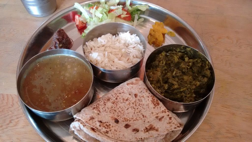 """Photo of Ranjit's Kitchen  by <a href=""""/members/profile/craigmc"""">craigmc</a> <br/>Vegan thali <br/> July 4, 2016  - <a href='/contact/abuse/image/57422/157812'>Report</a>"""