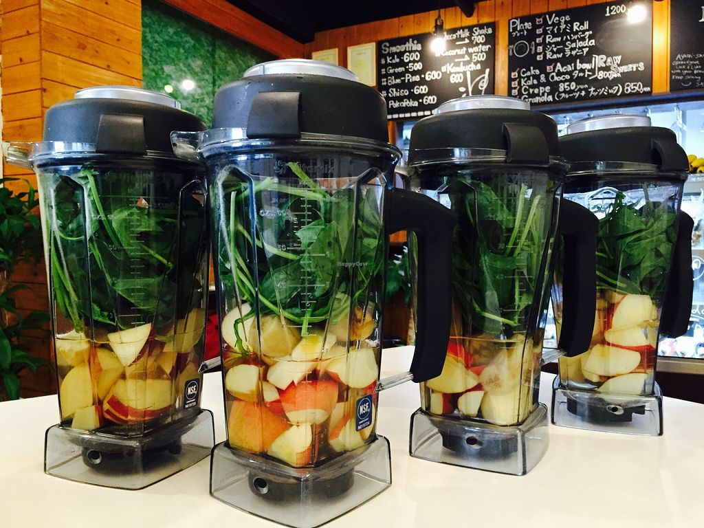 """Photo of CLOSED: Maria Cafe  by <a href=""""/members/profile/RawMaria"""">RawMaria</a> <br/>Ready for large smoothies <br/> September 23, 2015  - <a href='/contact/abuse/image/57436/118880'>Report</a>"""