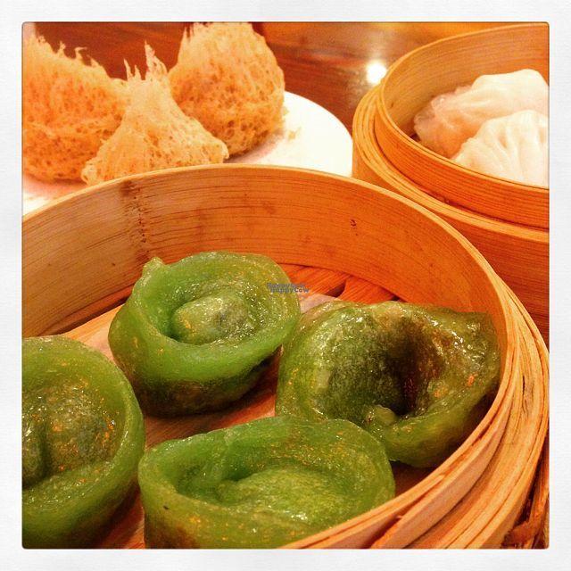 "Photo of Buddha Bodai - Mulberry St  by <a href=""/members/profile/VeganChazilian"">VeganChazilian</a> <br/>jade dumplings, shrimp dumplings, fried taro <br/> September 18, 2016  - <a href='/contact/abuse/image/57438/176563'>Report</a>"