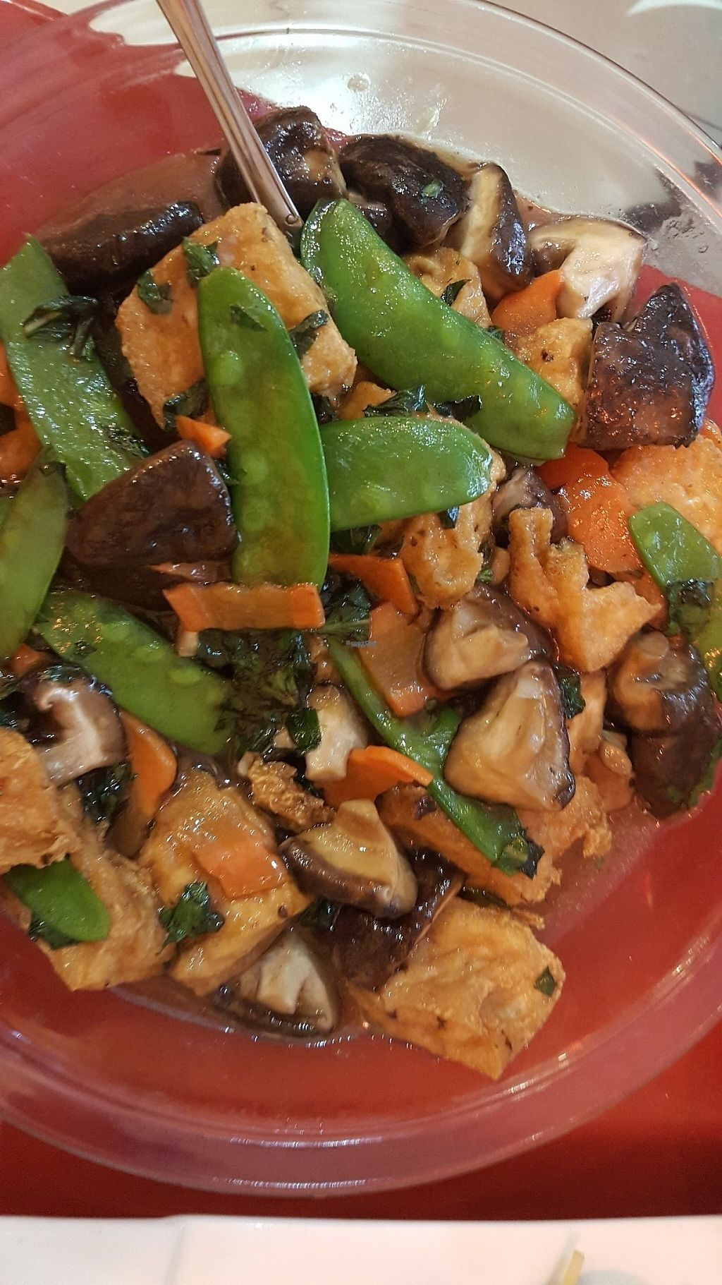 """Photo of Buddha Bodai - Mulberry St  by <a href=""""/members/profile/debbiesmall"""">debbiesmall</a> <br/>Tofu and mushroom with basil <br/> March 22, 2017  - <a href='/contact/abuse/image/57438/239346'>Report</a>"""