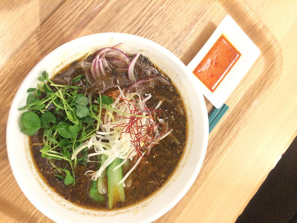 """Photo of T's Tan Tan  by <a href=""""/members/profile/TravelAmy"""">TravelAmy</a> <br/>ramen with black sesame for around 900 yen <br/> September 25, 2017  - <a href='/contact/abuse/image/57492/308277'>Report</a>"""