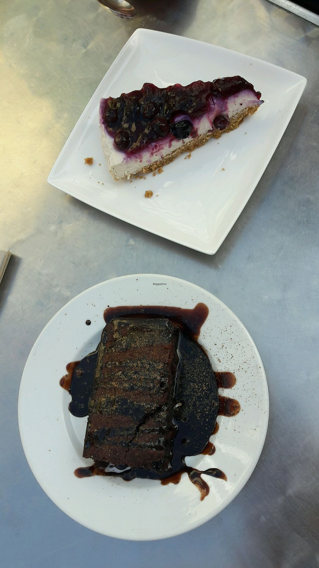 "Photo of Loving Hut - North Laine  by <a href=""/members/profile/emroisen"">emroisen</a> <br/>chocolate brownie and blueberry cheesecake <br/> August 27, 2017  - <a href='/contact/abuse/image/57500/297826'>Report</a>"