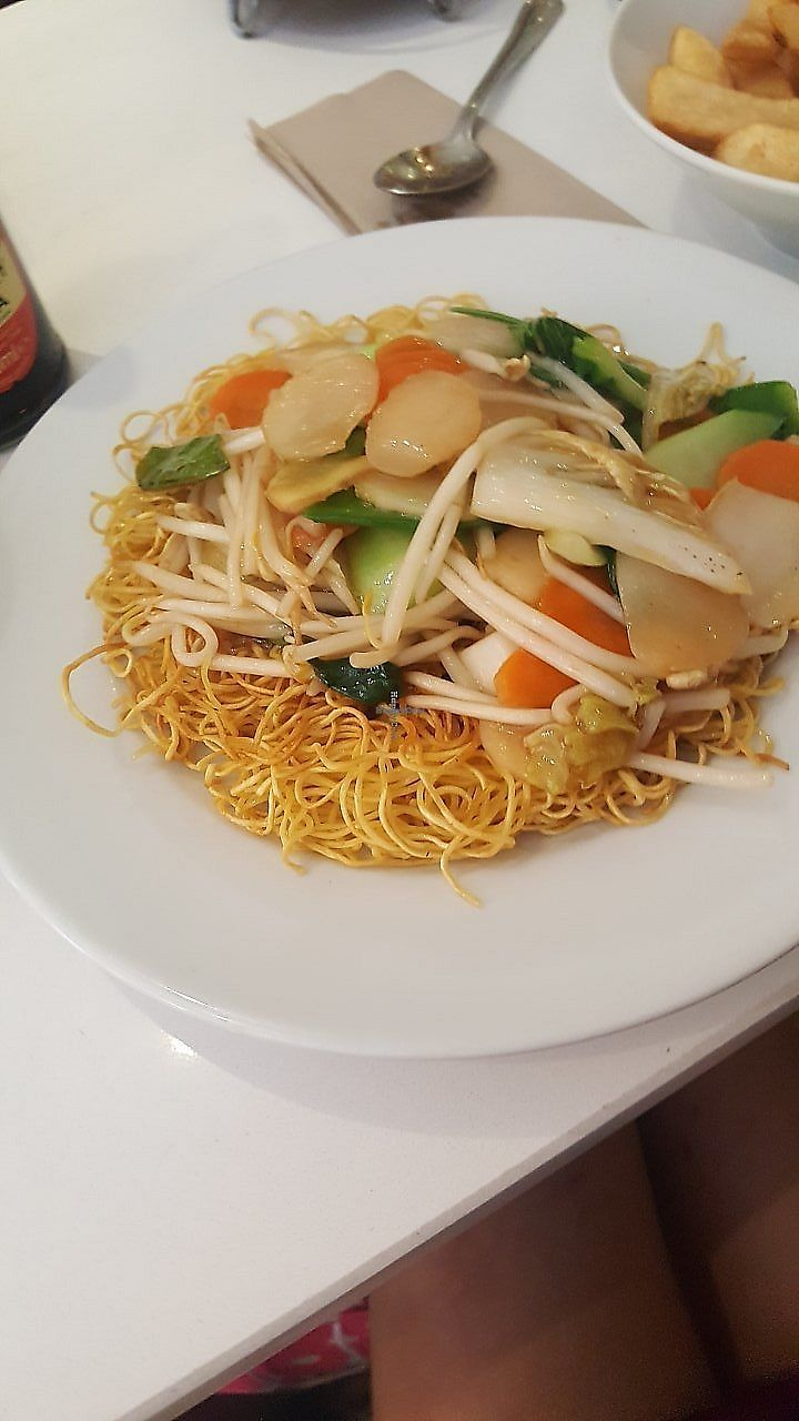 "Photo of Loving Hut - North Laine  by <a href=""/members/profile/CherylHammerton"">CherylHammerton</a> <br/>crispsy noodles and veg <br/> July 24, 2017  - <a href='/contact/abuse/image/57500/326238'>Report</a>"