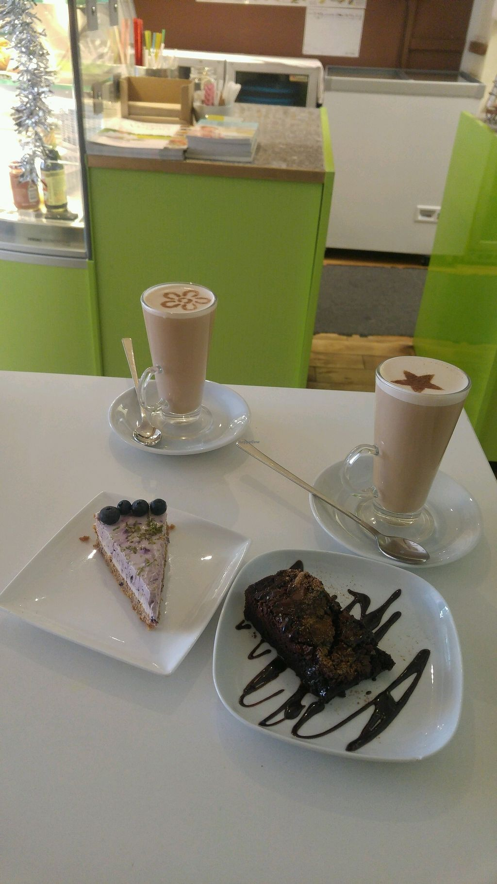 "Photo of Loving Hut - North Laine  by <a href=""/members/profile/BPvegan"">BPvegan</a> <br/>vegan salted caramel brownie, cheesecake and 2 chai lattes <br/> January 2, 2018  - <a href='/contact/abuse/image/57500/342115'>Report</a>"