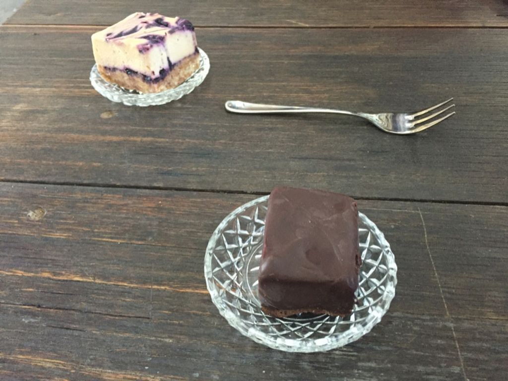 """Photo of The Conscious Caravan - Food Van  by <a href=""""/members/profile/Kittybiscuit"""">Kittybiscuit</a> <br/>sweets - cheesecake and death by chocolate <br/> February 19, 2016  - <a href='/contact/abuse/image/57512/136912'>Report</a>"""