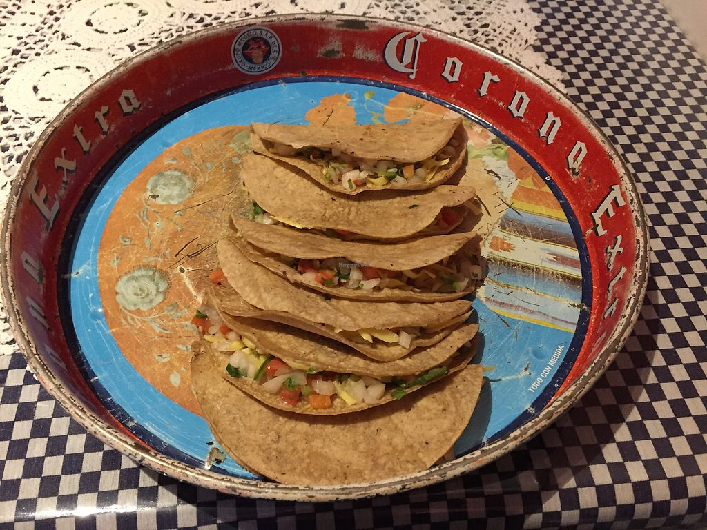 "Photo of La Tortilleria  by <a href=""/members/profile/Wuji_Luiji"">Wuji_Luiji</a> <br/>Vegan quesadillas - pico de gallo with vegan cheese <br/> January 20, 2018  - <a href='/contact/abuse/image/57540/348799'>Report</a>"
