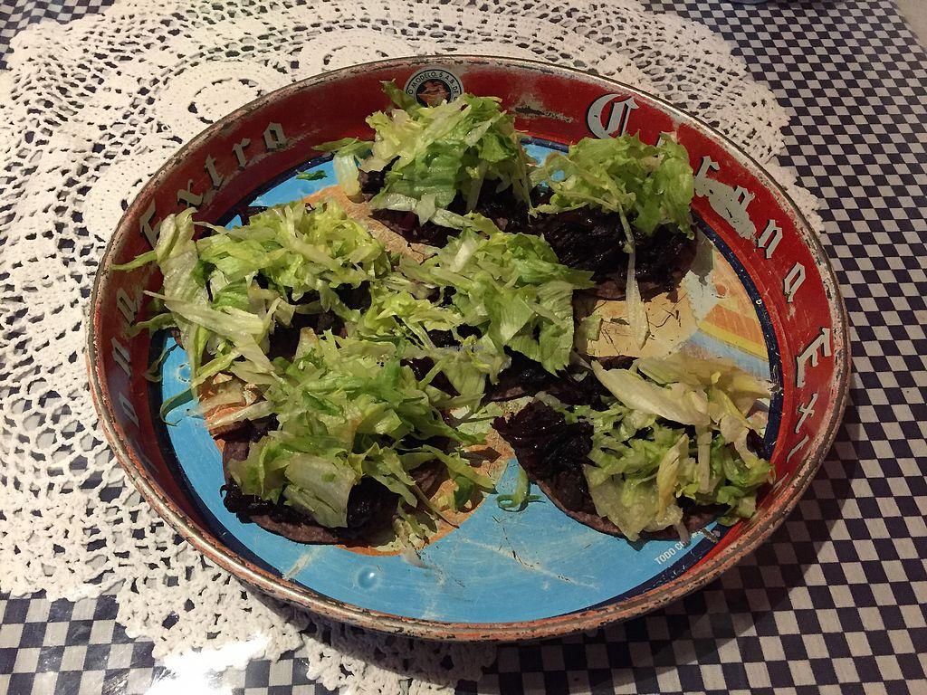 """Photo of La Tortilleria  by <a href=""""/members/profile/Wuji_Luiji"""">Wuji_Luiji</a> <br/>Vegan tostadas - flor de Jamaica <br/> January 21, 2018  - <a href='/contact/abuse/image/57540/349298'>Report</a>"""