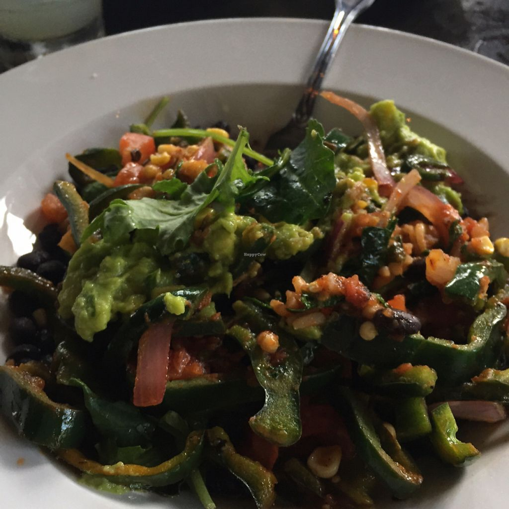 """Photo of Tortilla Republic  by <a href=""""/members/profile/FrankieVandellous"""">FrankieVandellous</a> <br/>vegetarian taco as a salad <br/> May 18, 2017  - <a href='/contact/abuse/image/57541/260119'>Report</a>"""