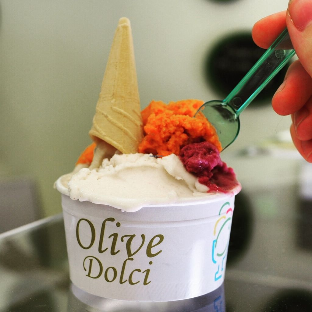 """Photo of Olive Dolci - Via Emanuele Filiberto  by <a href=""""/members/profile/Plantpowerednomad"""">Plantpowerednomad</a> <br/>Amazing gelato <br/> May 29, 2016  - <a href='/contact/abuse/image/57559/151316'>Report</a>"""