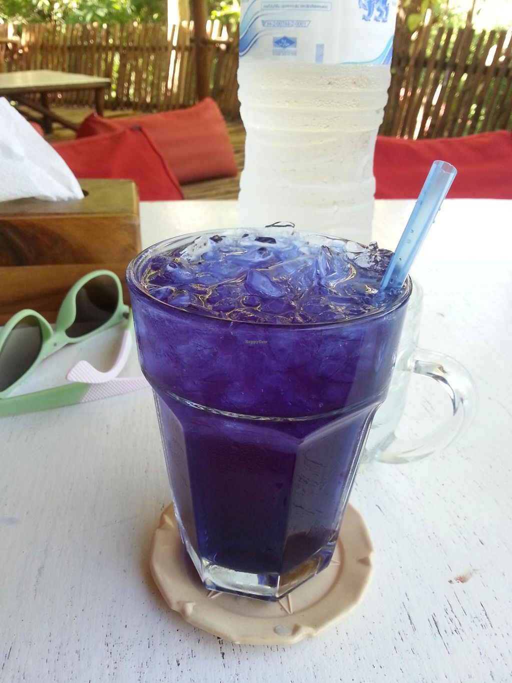"""Photo of Babaloo Restaurant and Uma's Kitchen  by <a href=""""/members/profile/camulla"""">camulla</a> <br/>butterfly pea tea <br/> May 18, 2015  - <a href='/contact/abuse/image/57573/102620'>Report</a>"""