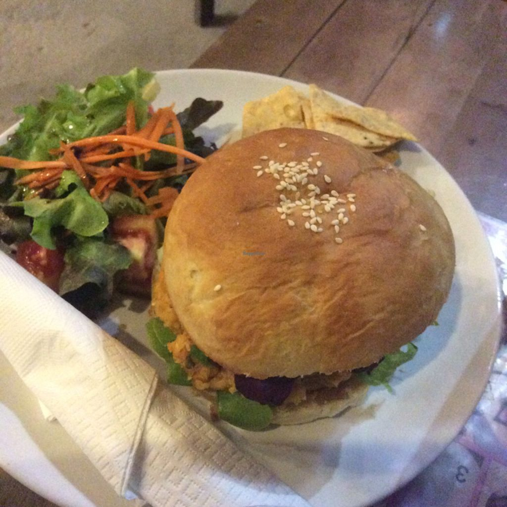 "Photo of I Love Salad  by <a href=""/members/profile/Sarahmrussell"">Sarahmrussell</a> <br/>chickpea burger <br/> August 11, 2015  - <a href='/contact/abuse/image/57574/113153'>Report</a>"